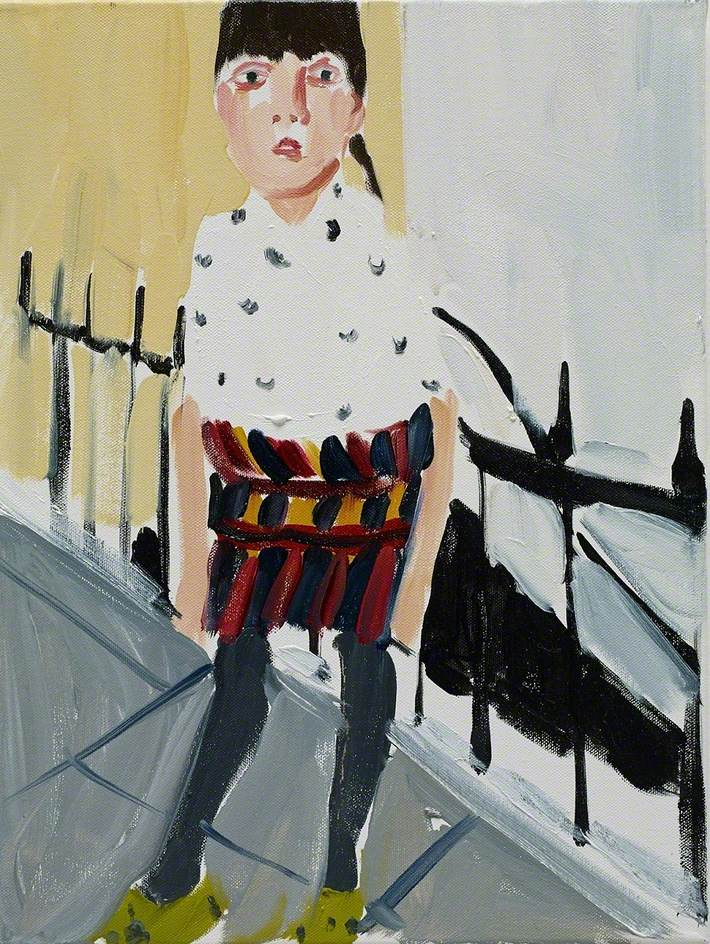 Chantal Joffe,  Esme by the Railings,  2014, oil on canvas