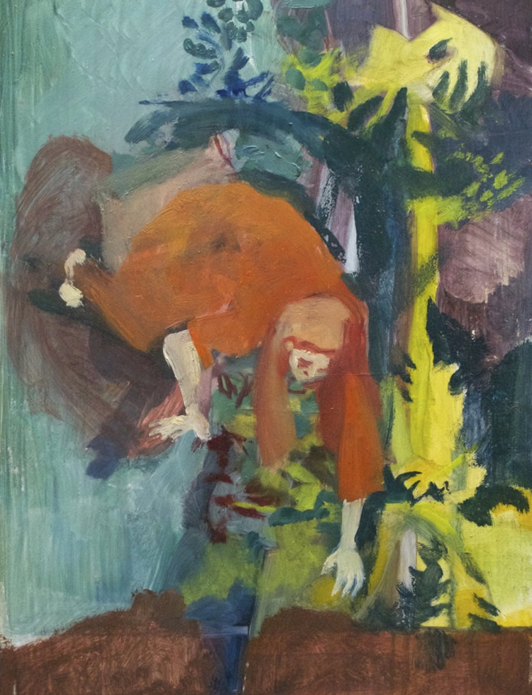 Rachel Mercer,  Unearthing II,  2017,   oil on board