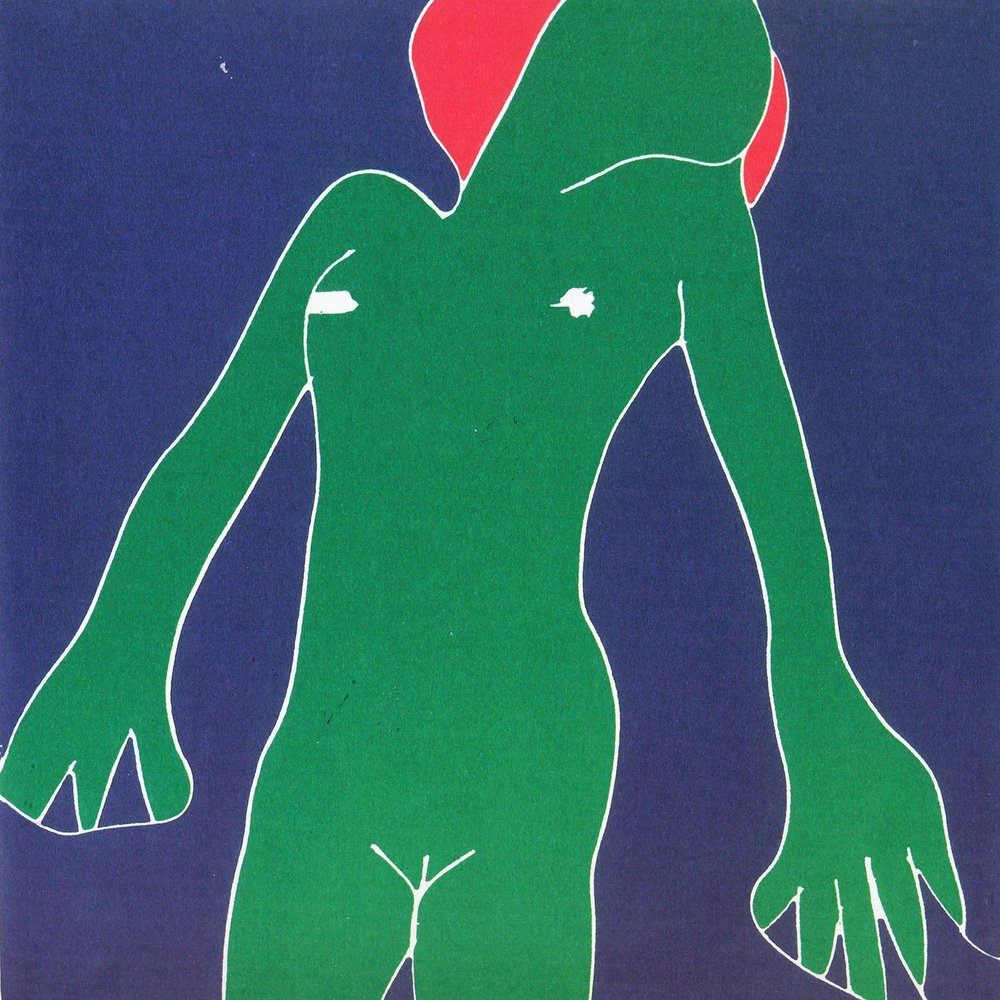 Phillip Sutton,  Green Nude,  c.1967, jigsaw woodcut