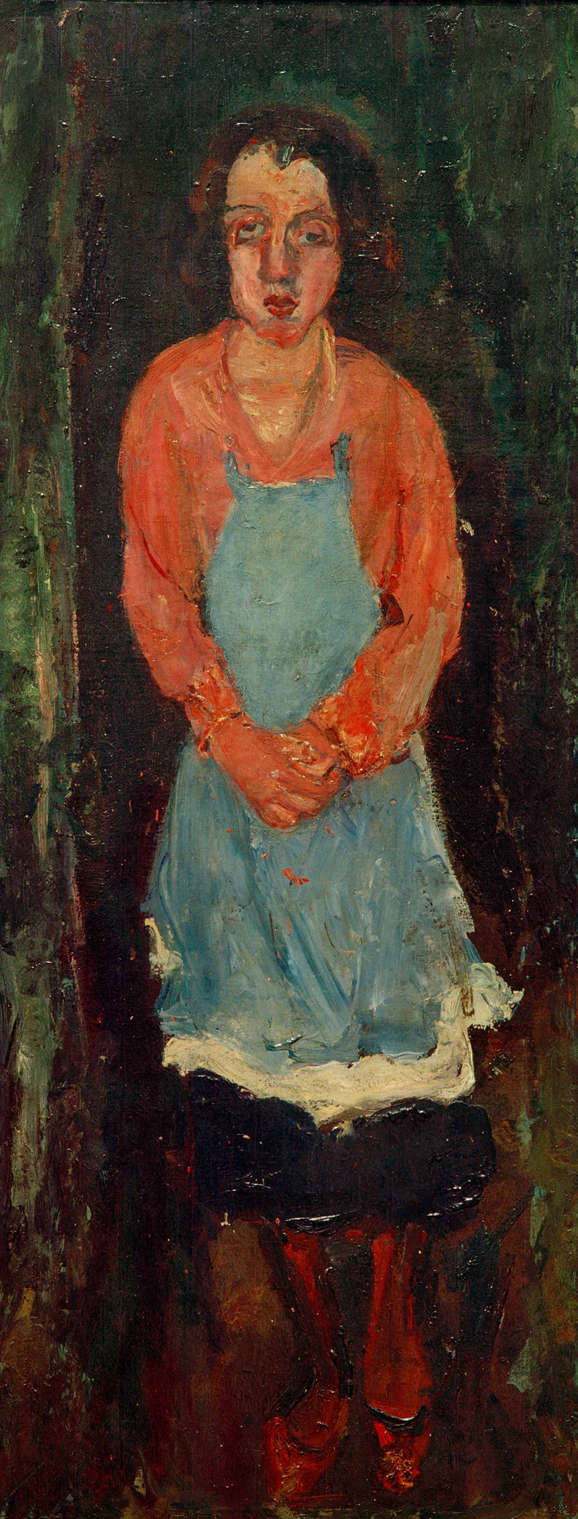 Chaïm Soutine,  Cook with Blue Apron (La Cuisinière en tallier bleu),  c.1930, oil on canvas