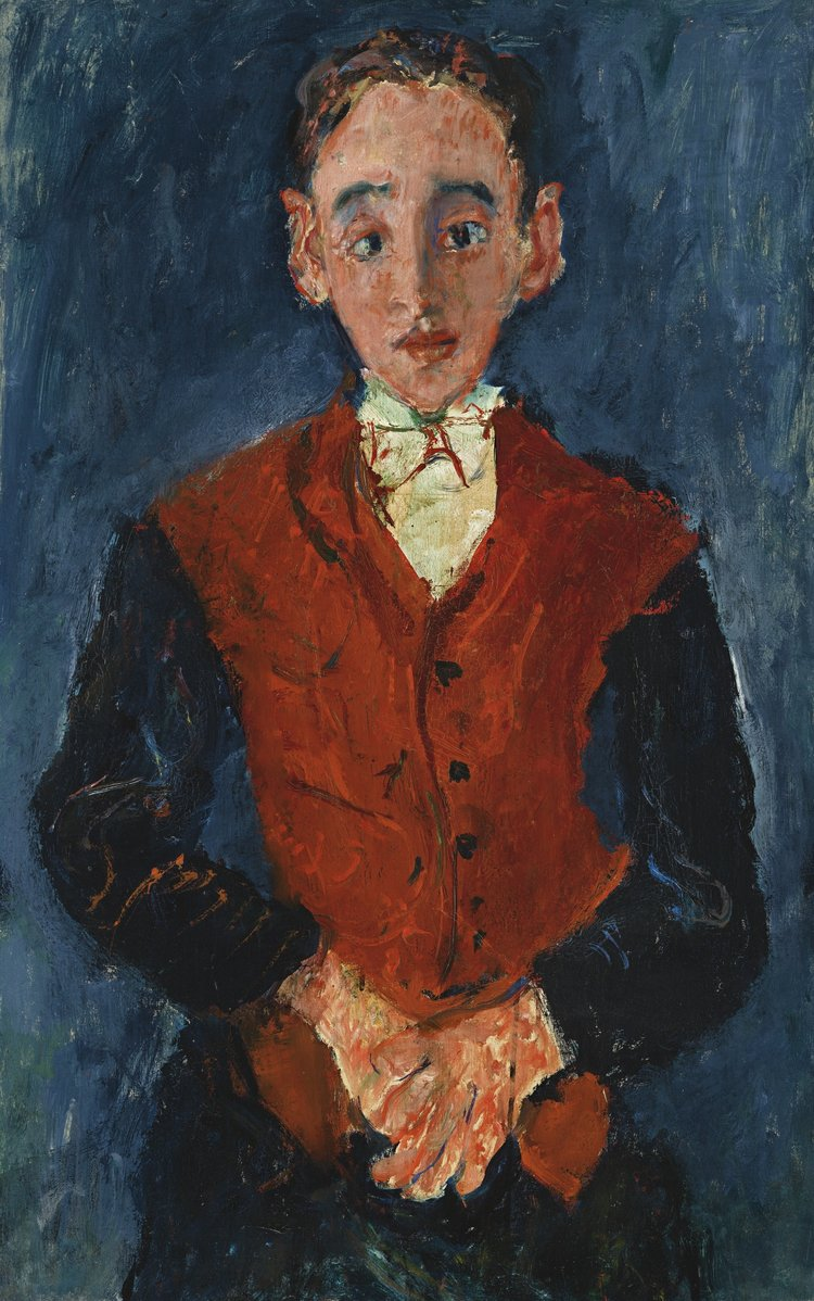 Chaïm Soutine,  Valet (Le Valet de chambre),  c.1927, oil on canvas