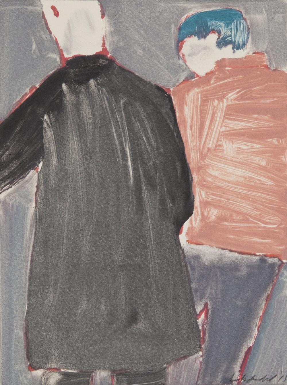 Betsy Dadd,  Basement II,  2015, monotype
