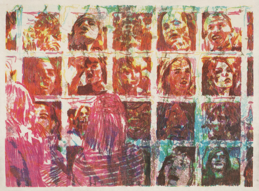 Jake Garfield, Painting My Face 5,  monotype