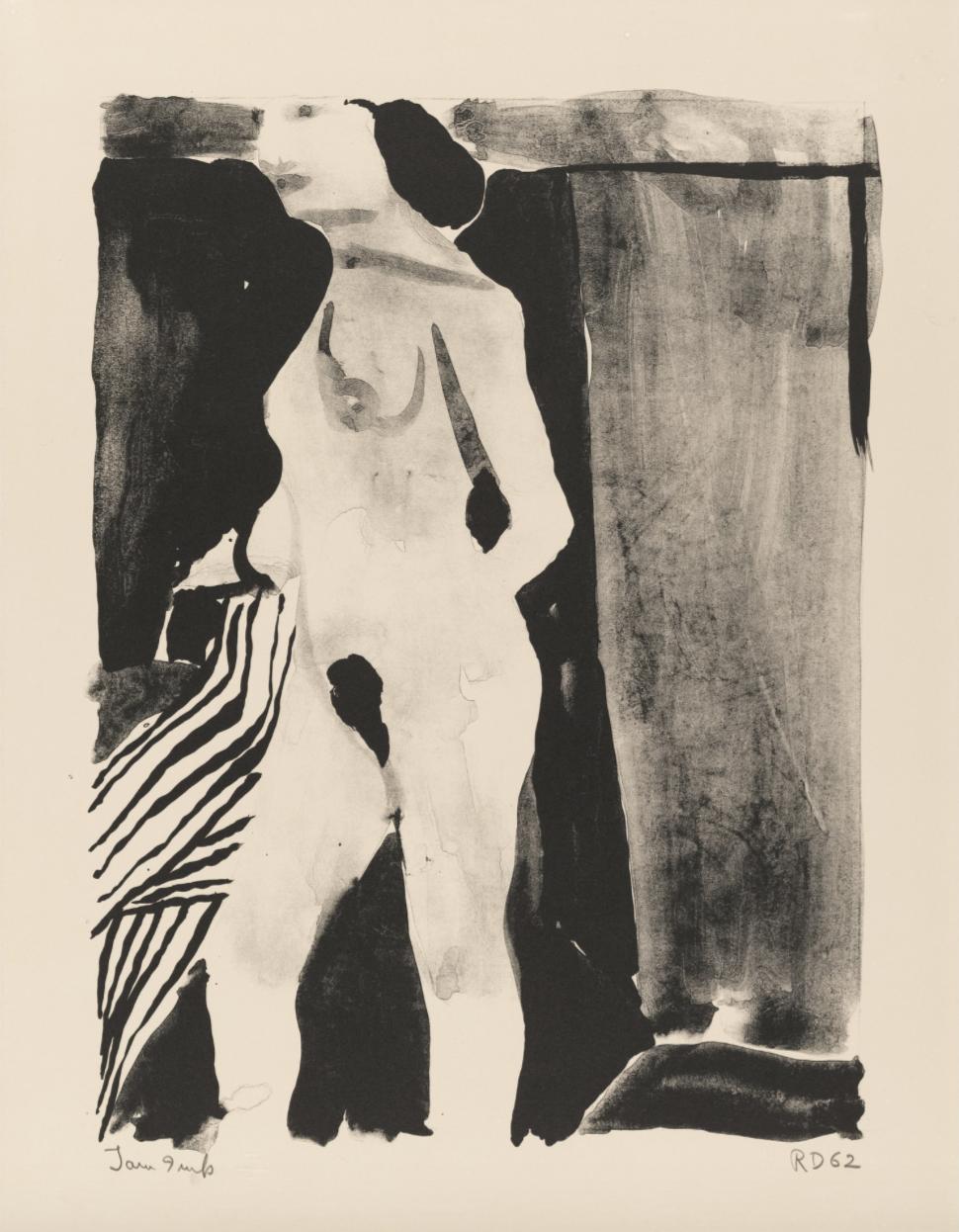Richard Diebenkorn,  Nude,  1962, lithograph