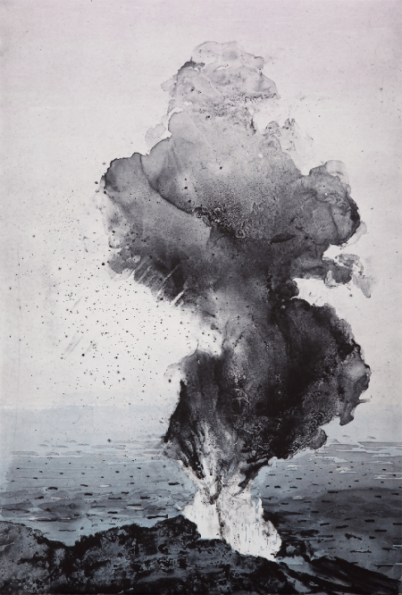 Emma Stibbon,  Stromboli Smoke,  2016, intaglio