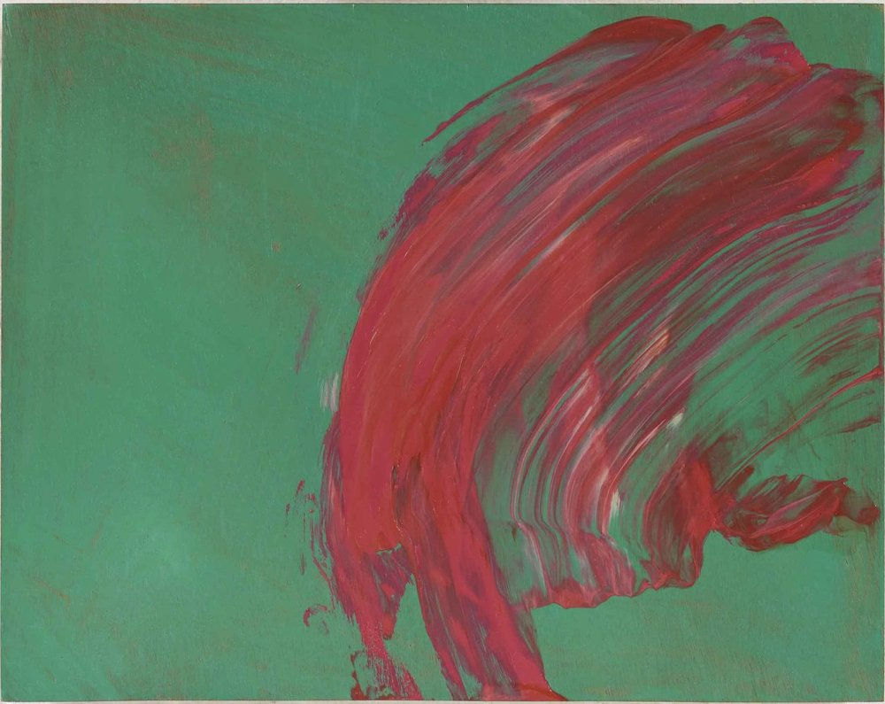 Howard Hodgkin,  Over to You,  2015-17, oil on wood