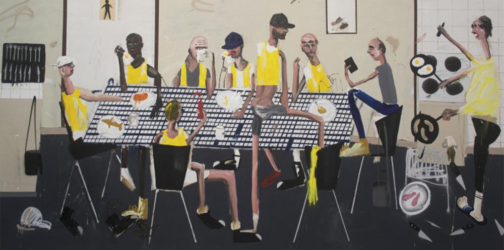 Dale Lewis,  East Street,  2016, oil, acrylic, spray paint on canvas