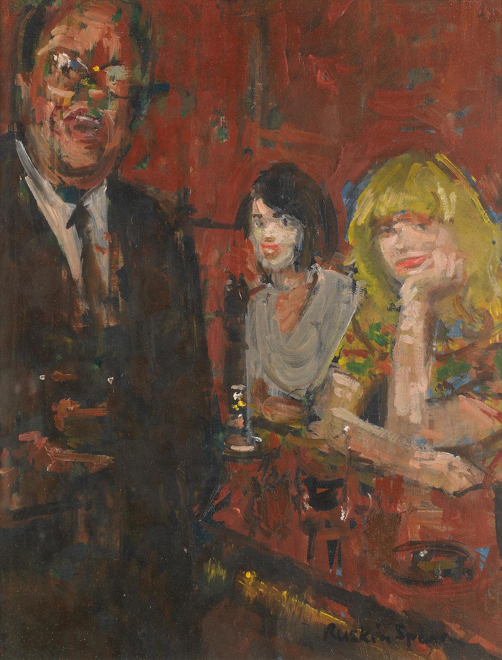 Ruskin Spear,  Pub scene,  oil on board