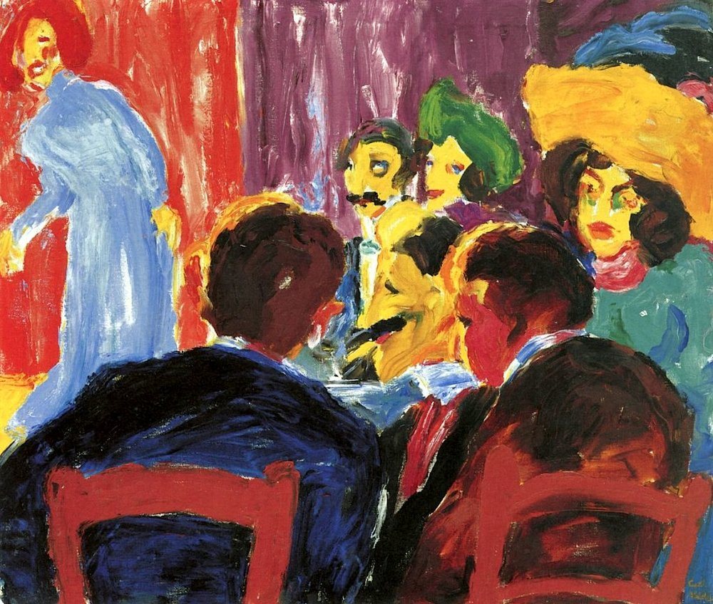 Emil Nolde,  Cabaret Audience,  1911, oil on canvas