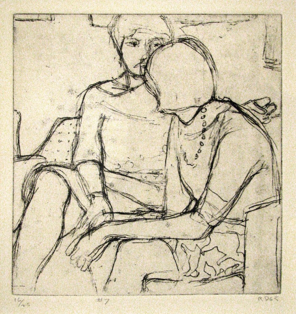 Richard Diebenkorn,  #7 from 41 Etchings Drypoints,  1965, etching