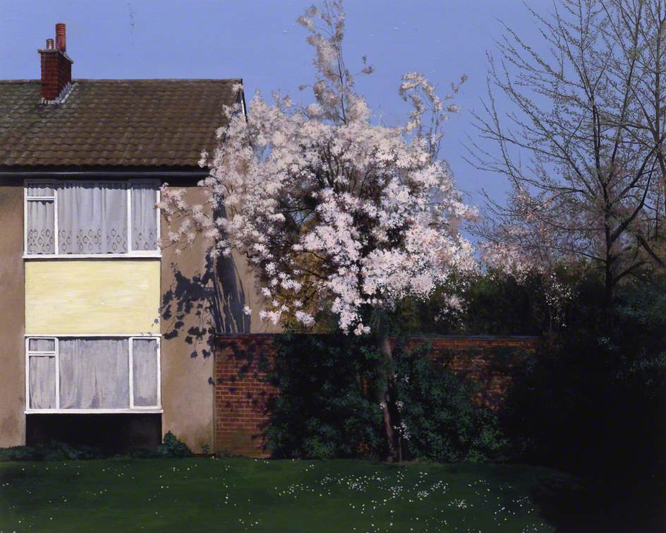 George Shaw,  Scenes from the Passion: The Blossomiest Blossom,  2001, Humbrol enamel on board