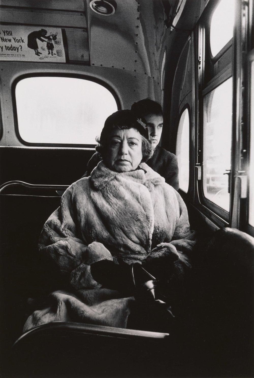 Diane Arbus,  Lady on a bus, N.Y.C.,  1957