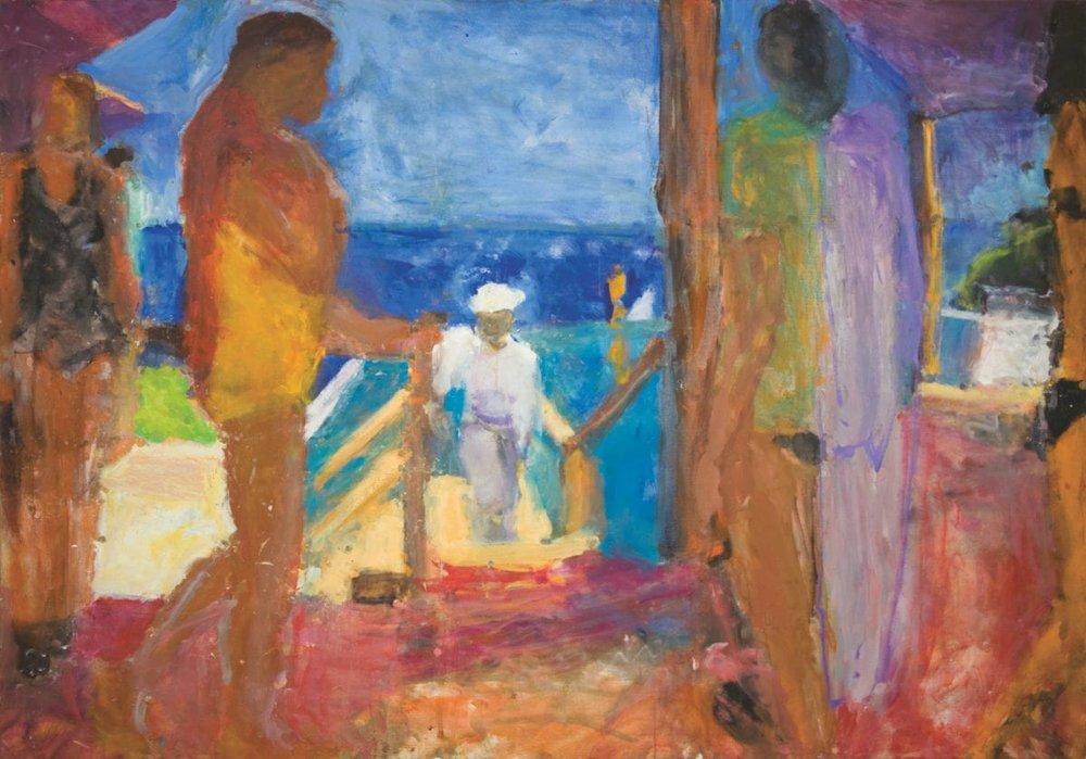 Sargy Mann,  Infinity Pool I,  2009, oil on canvas