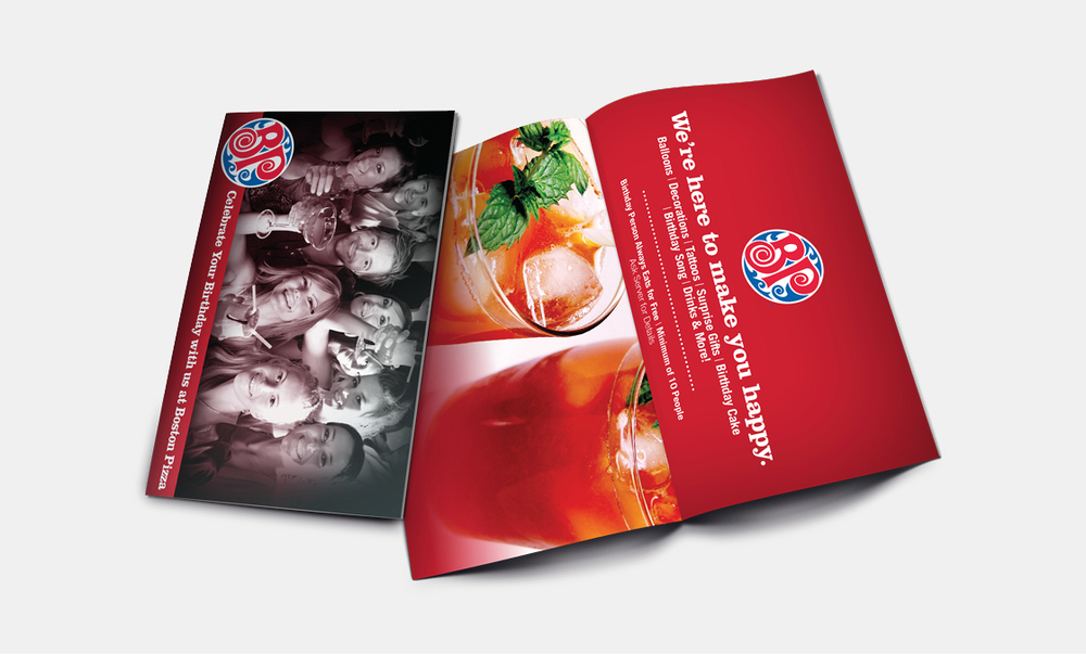 Boston Pizza - Menu Sleeves