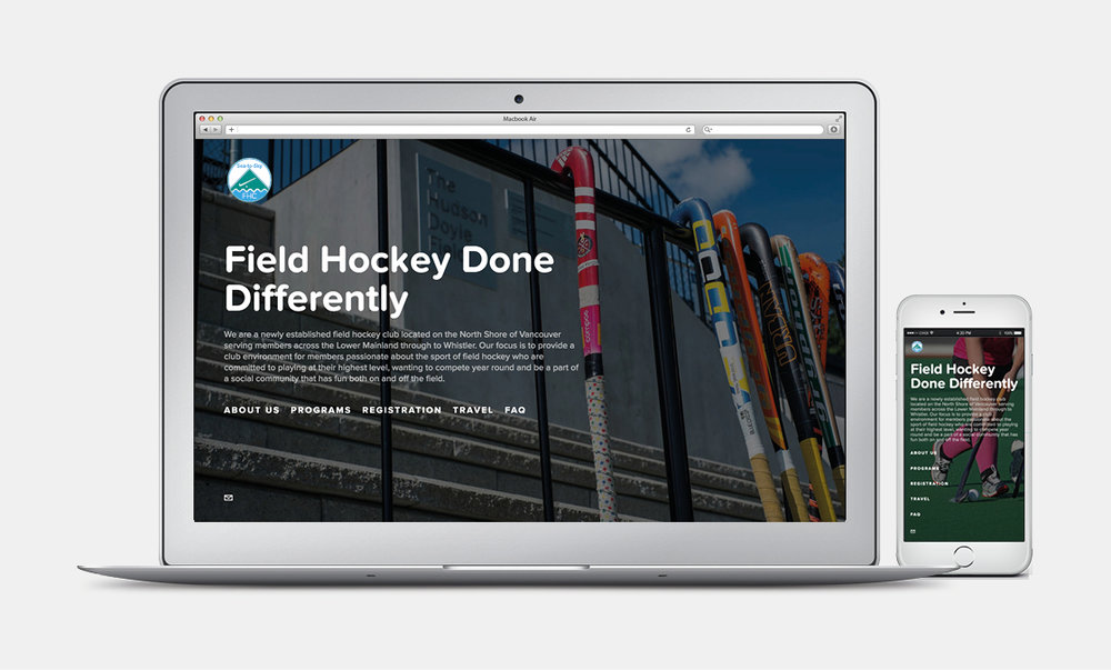 Sea-to-Sky Field Hockey Club - Website Mockup