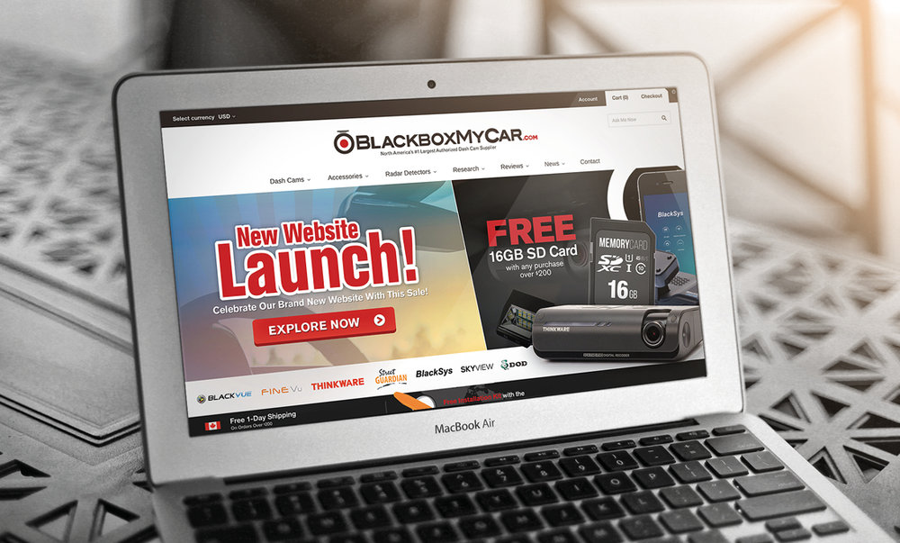 BlackboxMyCar - Case Study: Marketing, Design & Growth Strategy BlackboxMyCar is the distributor of various high quality dash cams from Korea, Taiwan, and China across North America. Since its inception, the company has grown to become North America's leading dash cam supplier.