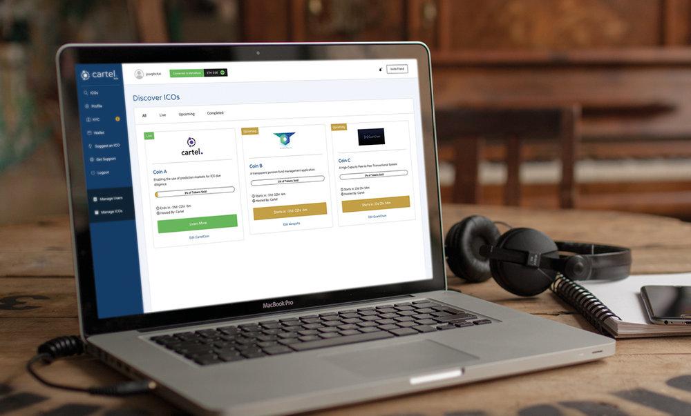 Cartel ICO Platform: Case Study  UI/UX Creation & Product Management