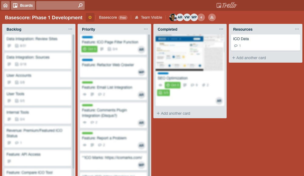 Using Trello as our Agile workflow, we worked in 2 week sprints in correlation with our production schedule to prioritize our development tasks
