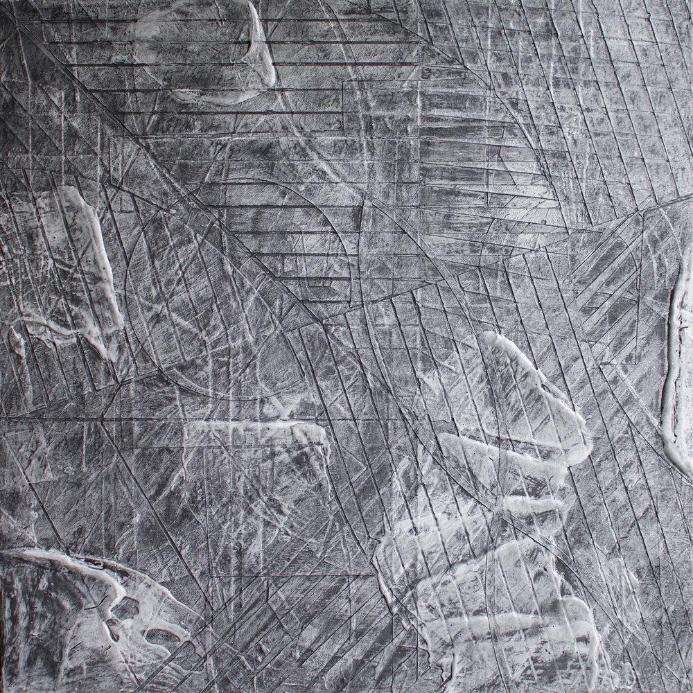 (Detail) 'The Haymaker in Castle Inn' 32 x 32cm, 2018. Acrylic & Graphite on Board. £230
