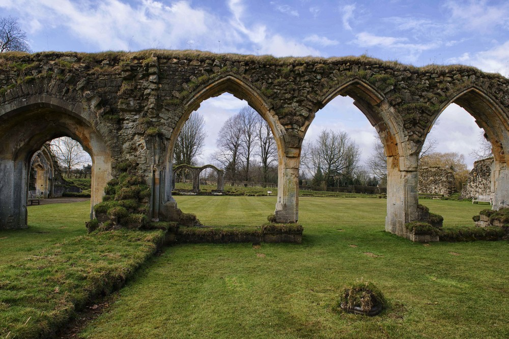 The ruin of Hailes Abbey, Gloucestershire, the Cotswolds, England retains an elegant beauty and moving spirit.