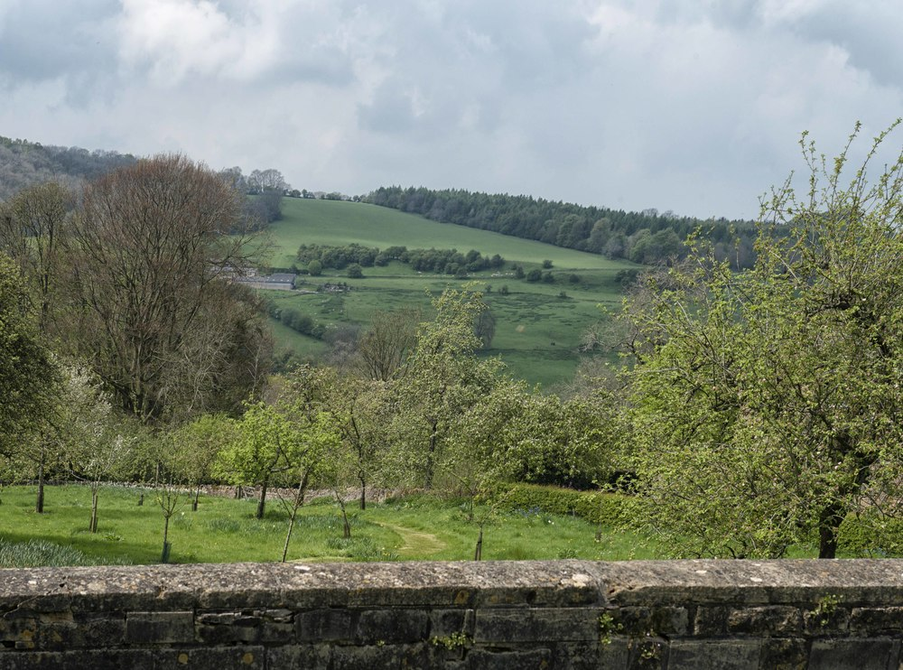 View of the Northern Cotswolds from Snowshill Manor Garden