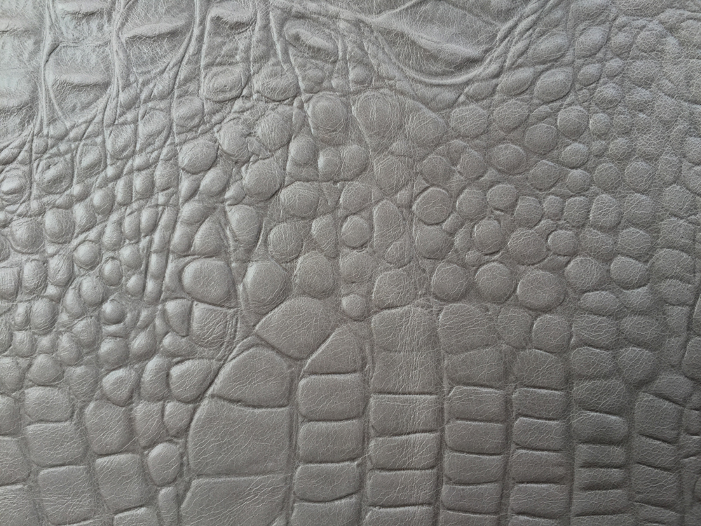 Standard Leather - PALE GREY CROC