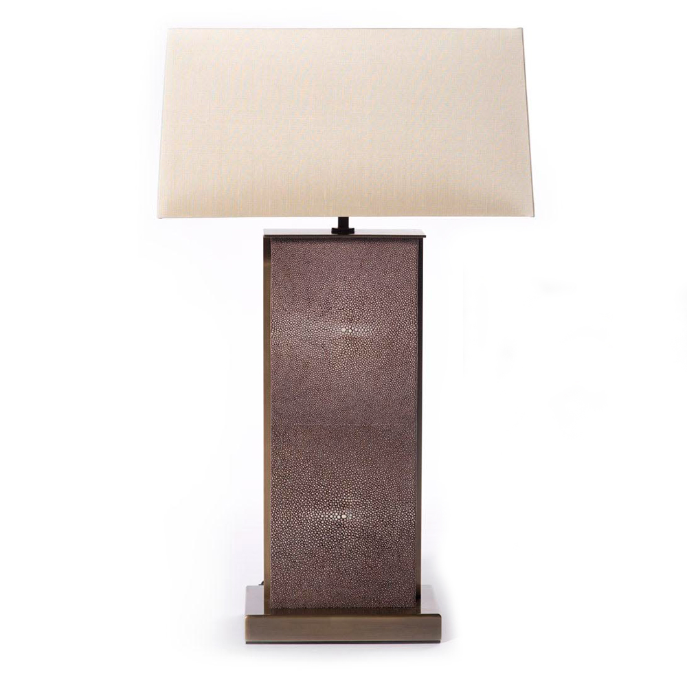 BYZANTINE   Shown in Shagreen Sport Rust leather and Antique Brass side strips and base.