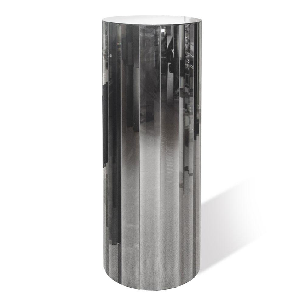 LINEA Circular with mirrored strips. Standard Dimension: Diameter 42cm x H 120cm