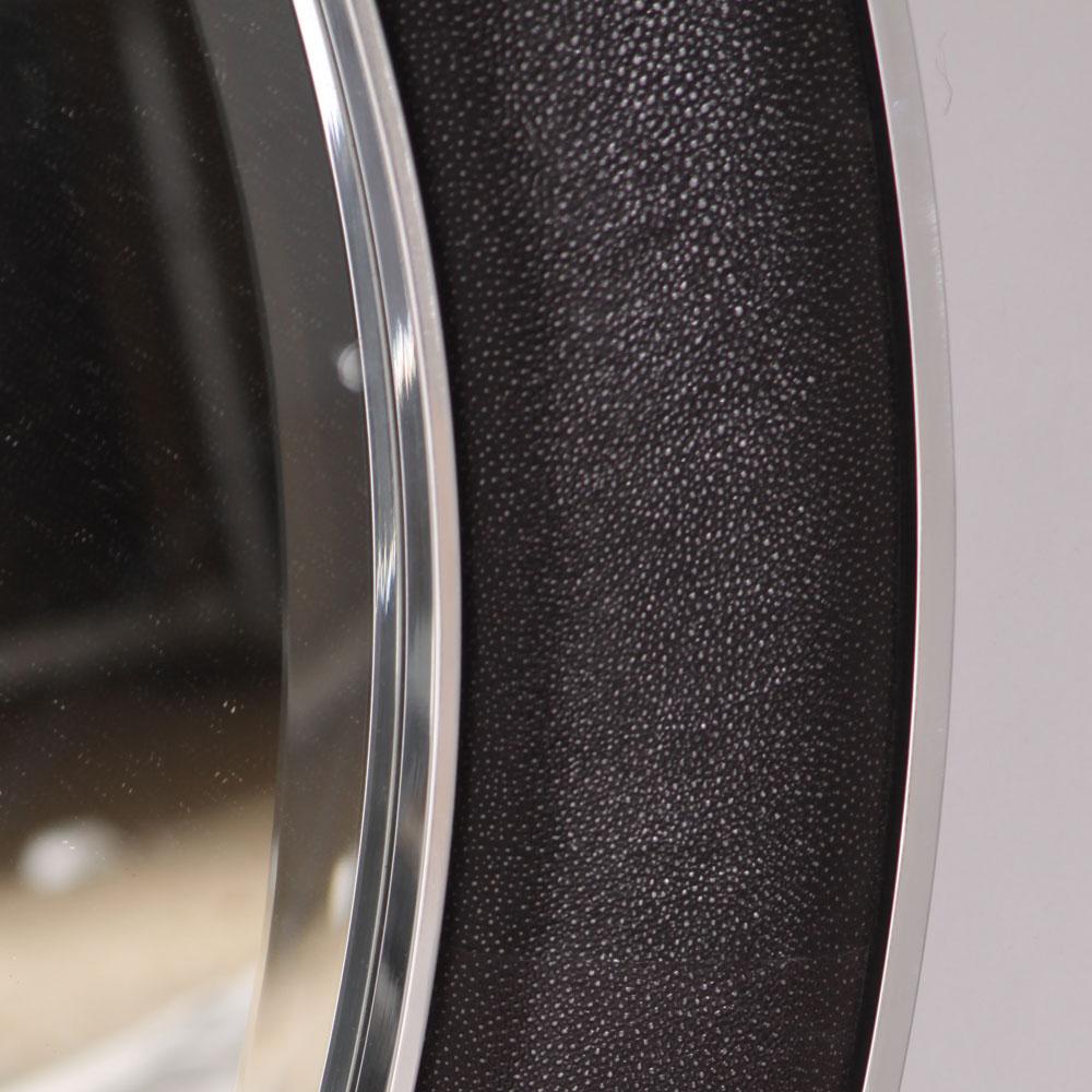 saxon chrome wrap round mirror caviar faux shagreen 6.jpg