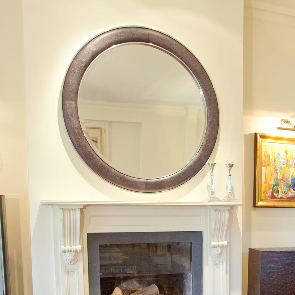 saxon chrome wrap round mirror caviar faux shagreen 3.jpg