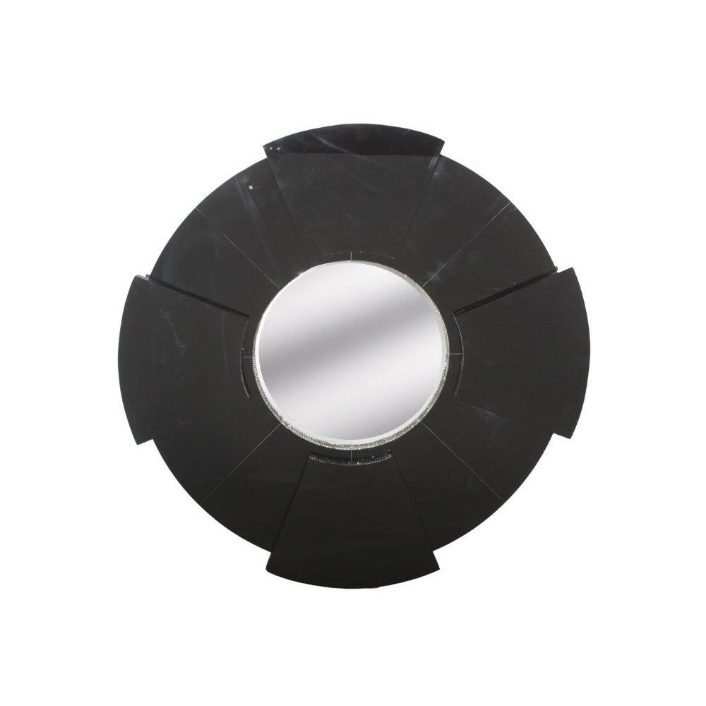 BLACK PERSPEX ROUND WITH SWAROVSKI CRYSTALS Diameter: 95cm