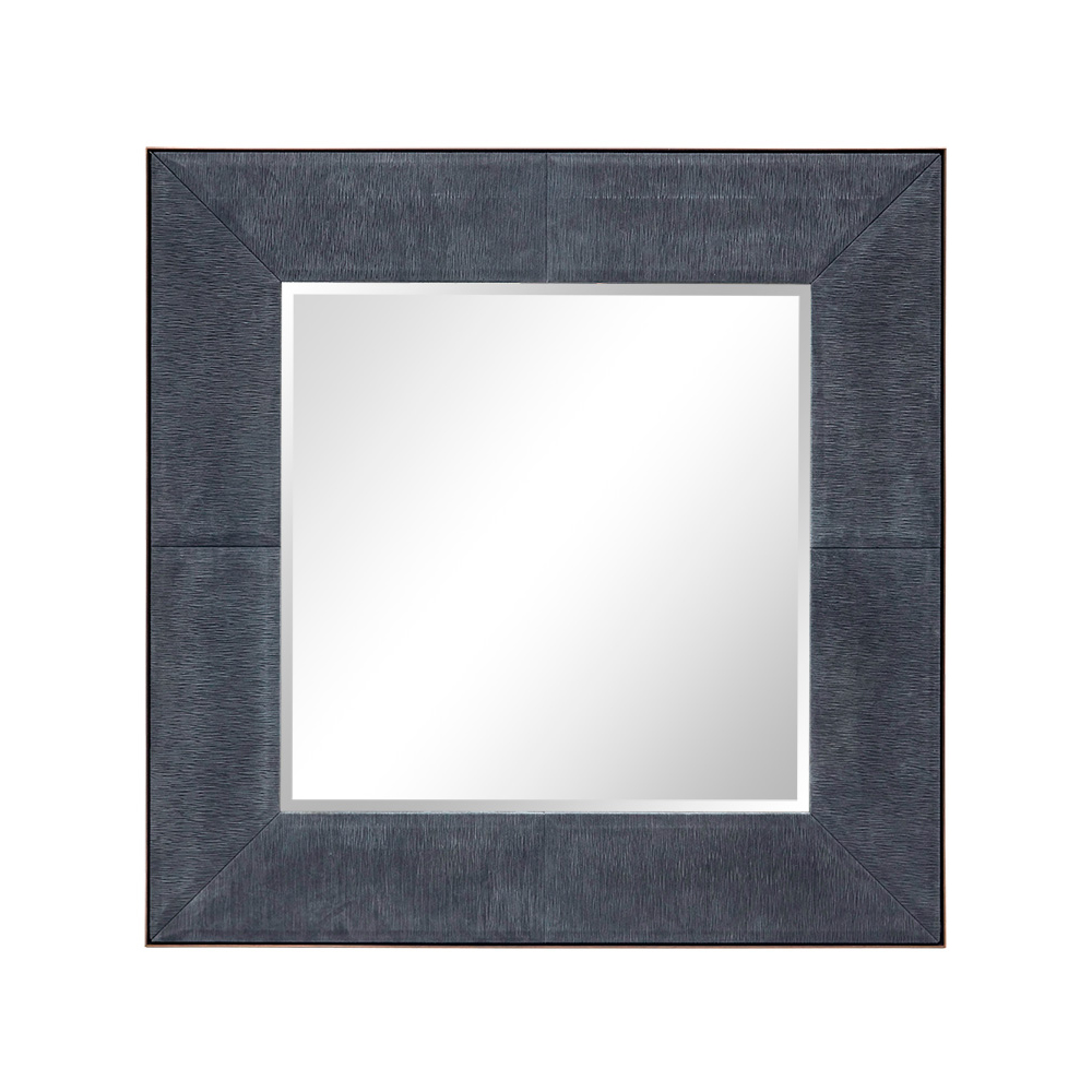FRANKLIN SQUARE MIRROR IN CHARCOAL BARK AND ANTIQUE BRASS Dimension:  W 120cm  x  H 120cm