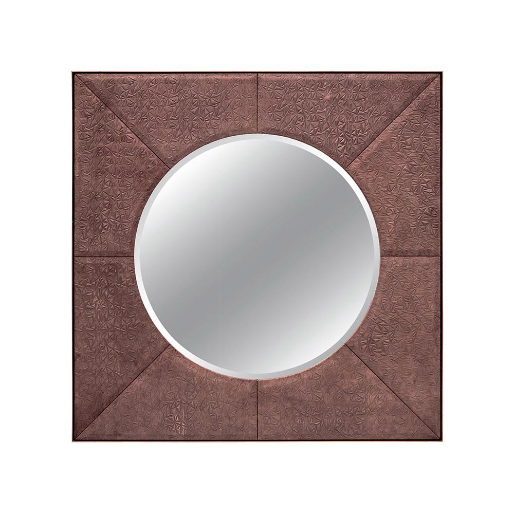 FRANKLIN ROUND MIRROR IN MOCHA PRISMA AND ANTIQUE BRASS Dimension: W 120cm x H 120cm