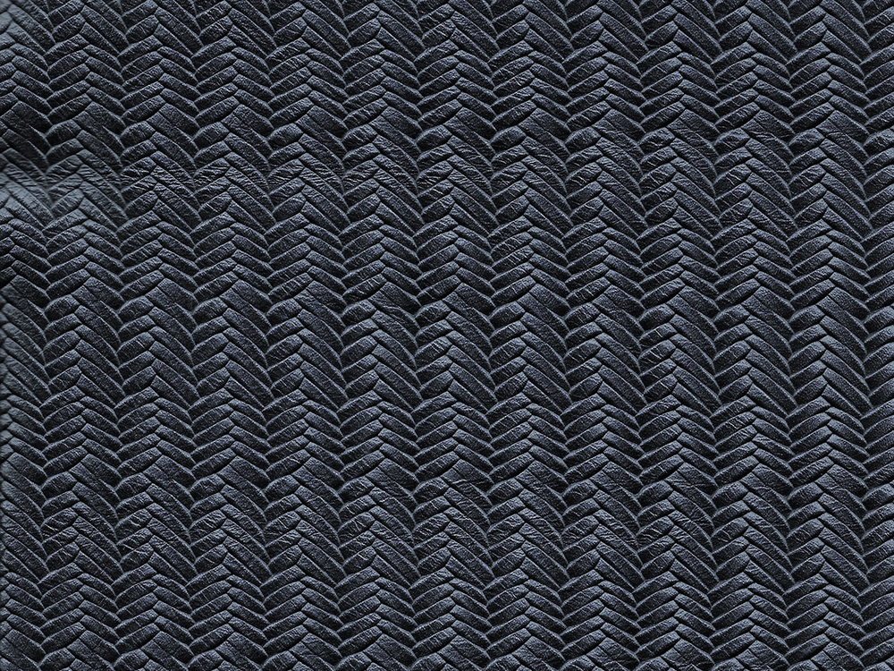 Semi Exotic -  HERRINGBONE PETROL BLUE