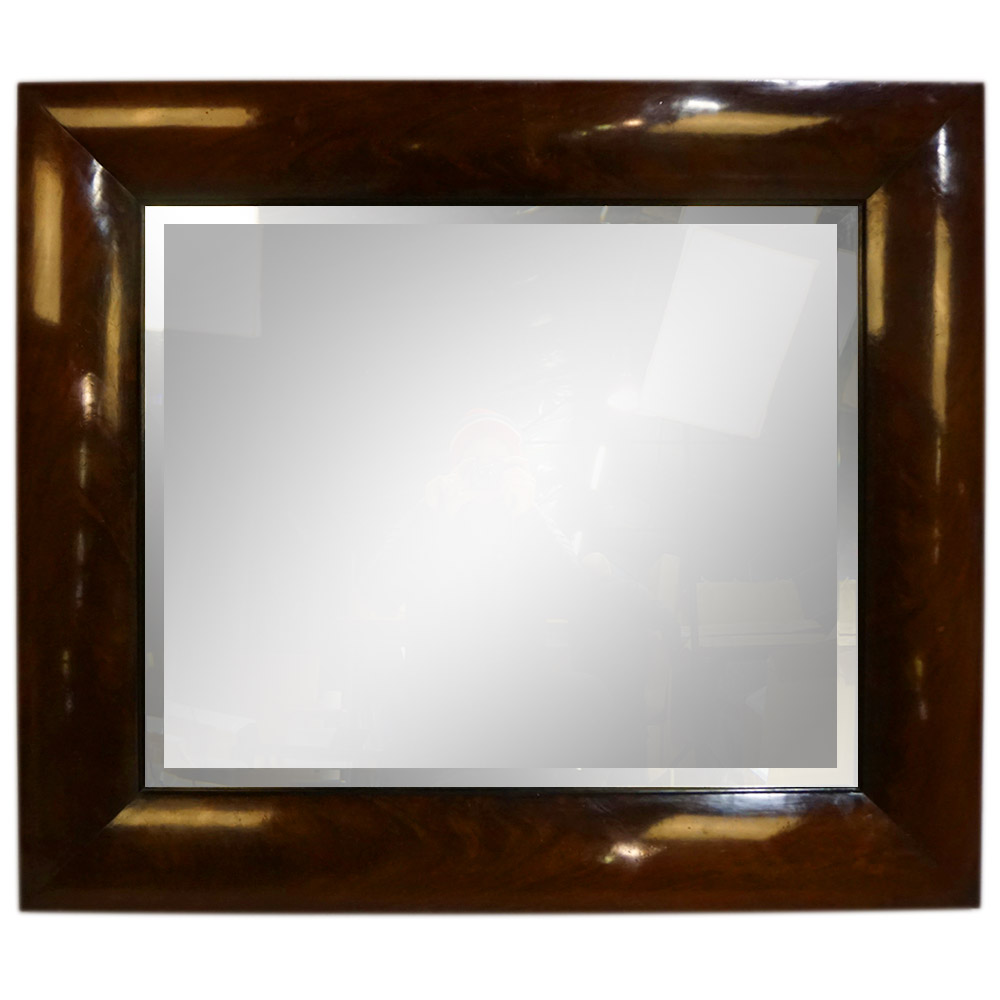 MAHOGANY CURL MIRROR   Dimension: W 112cm x H 97cm