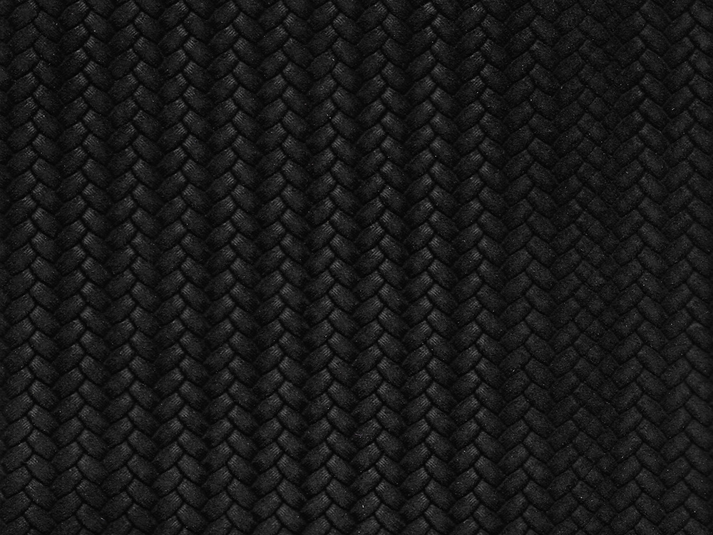 BLACK SUEDED HERRINGBONE