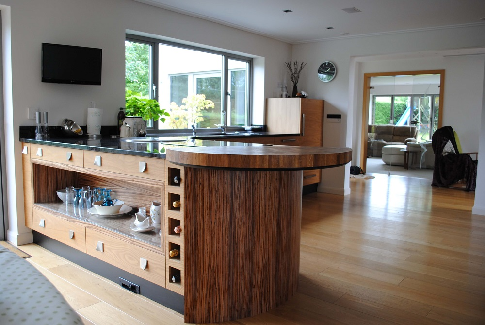 Oak and Zebrano Kitchen