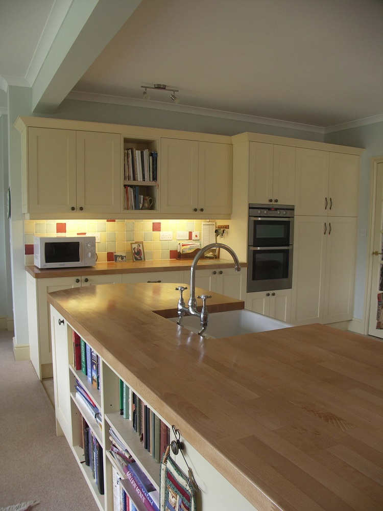 Painted and Beech Kitchen