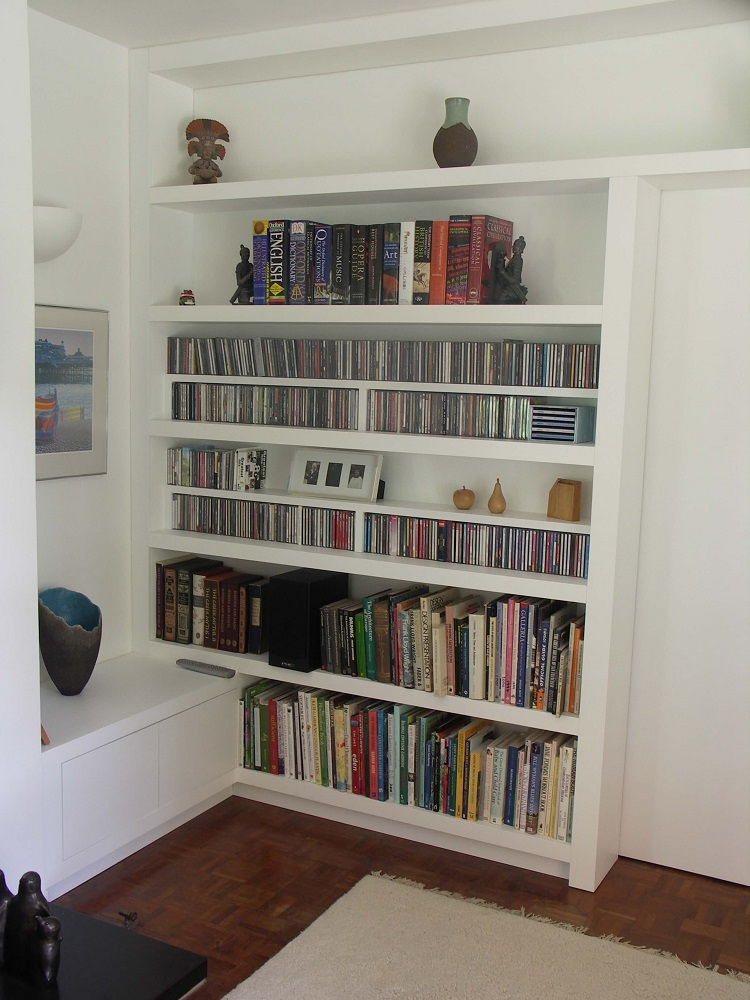 Painted Bookcase Storage