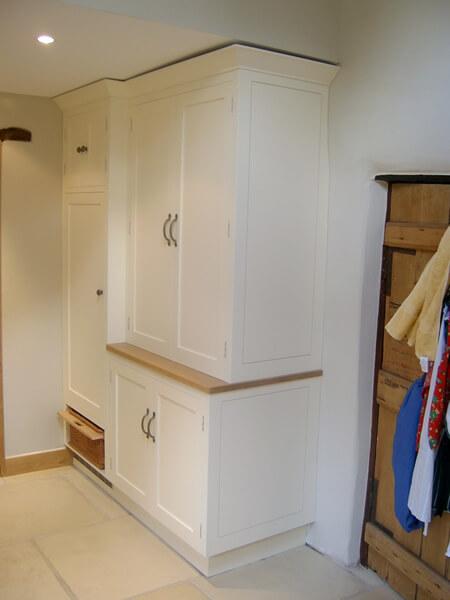 Painted larder cupboards