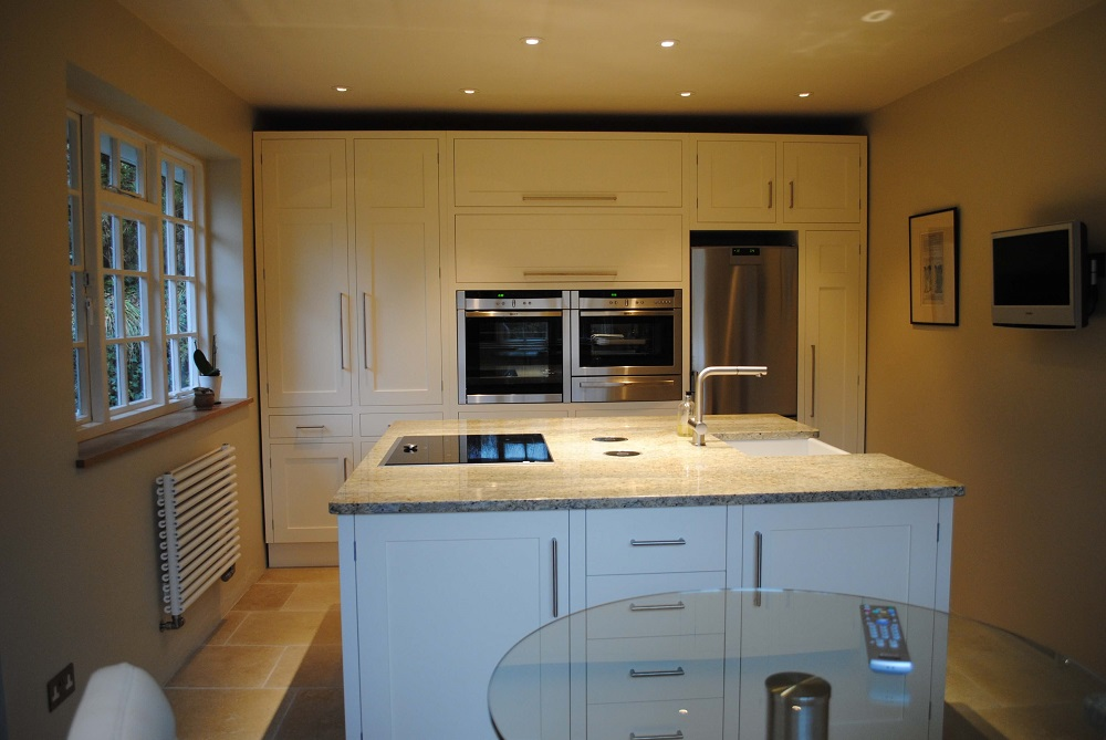 Painted kitchen with island unit