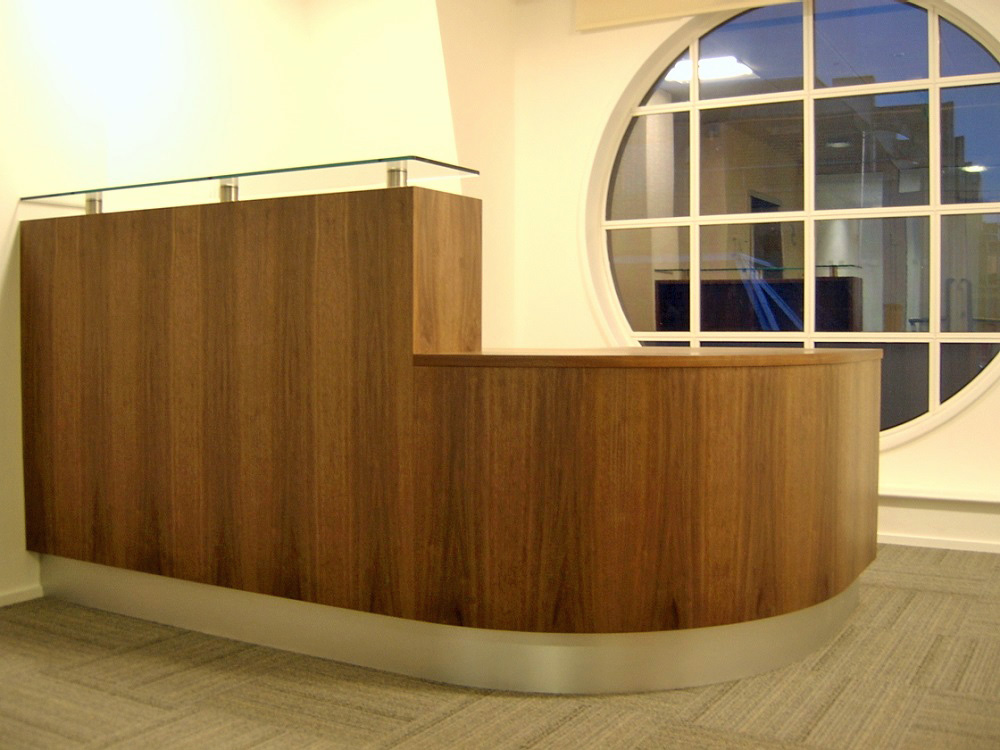 Bespoke Walnut Reception Desk