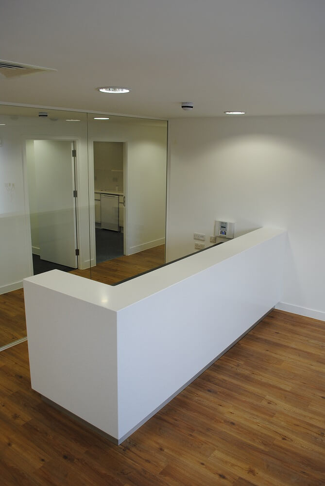 bespoke reception desks corian reception desks david. Black Bedroom Furniture Sets. Home Design Ideas