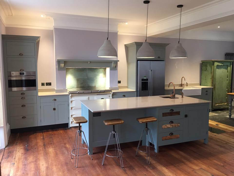 Hand painted bespoke kitchen.