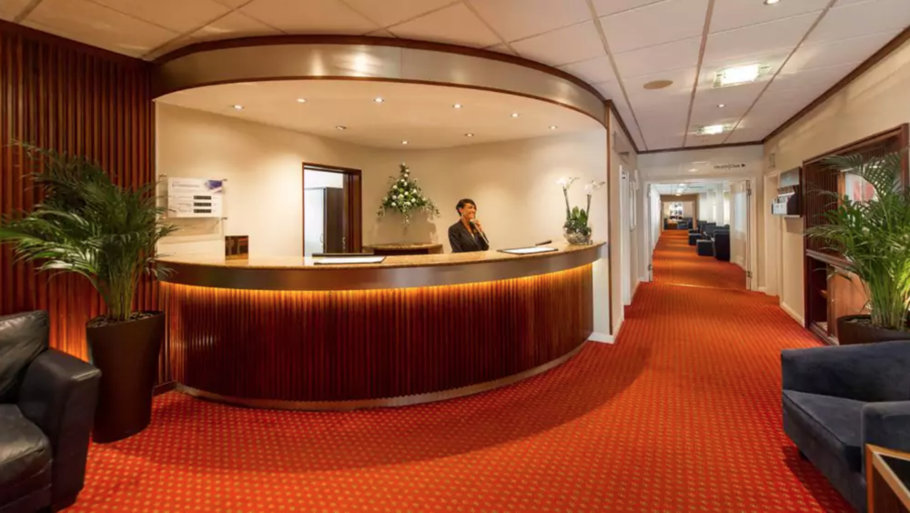 The Barnstaple Hotel reception desk - before