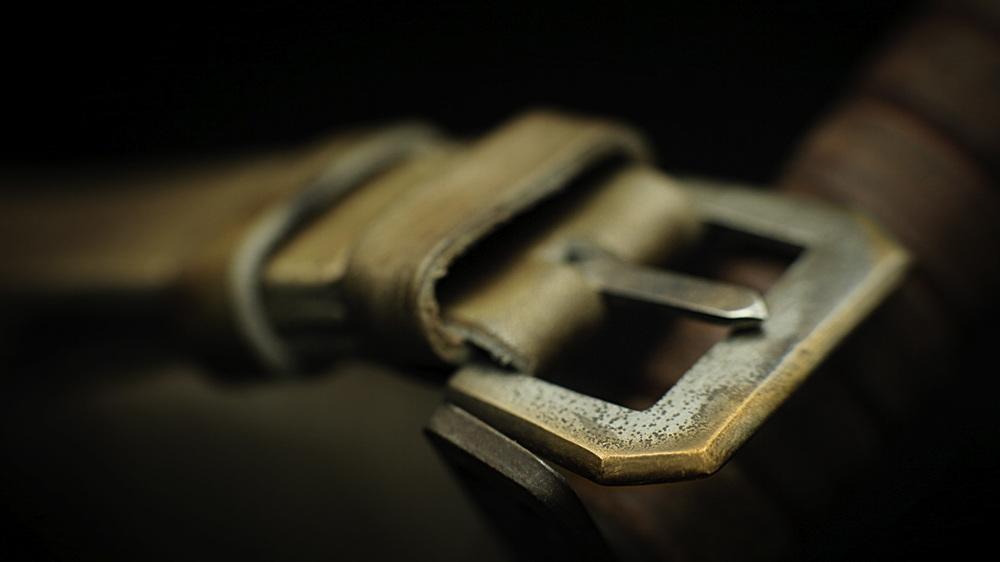 2tones Bronze Knife-Edge buckle