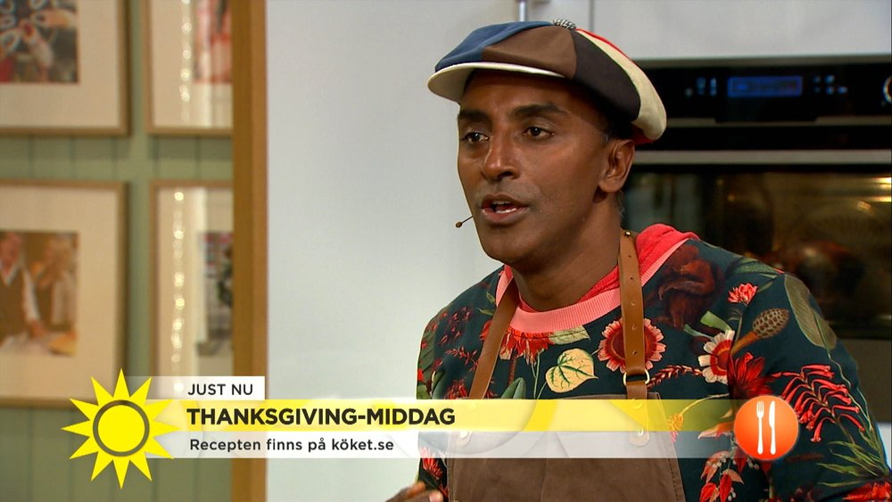 photo source:   screen shot of marcus samuelsson from nyhetsmorgon tv4.se