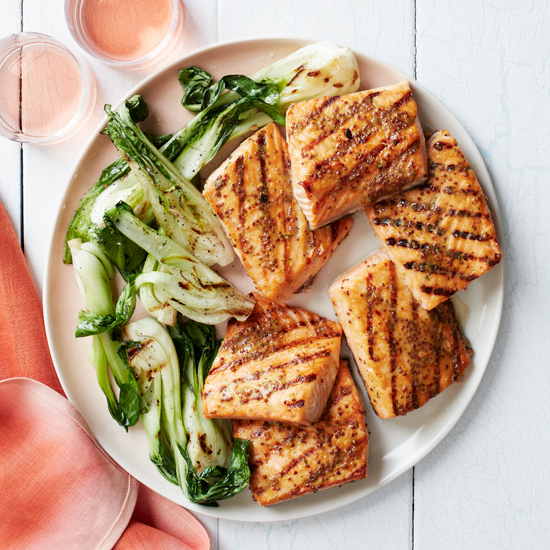 Grilled Salmon + Cru Beaujolais - Grilled salmon paired with with Cru Beaujolais is superb with rich, saucy seafood dishes.