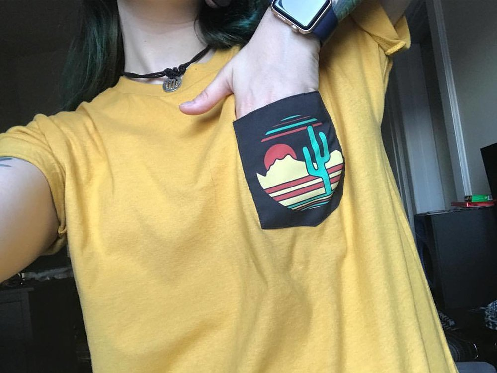 Cactus pocket t-shirt by Ofox Apparel