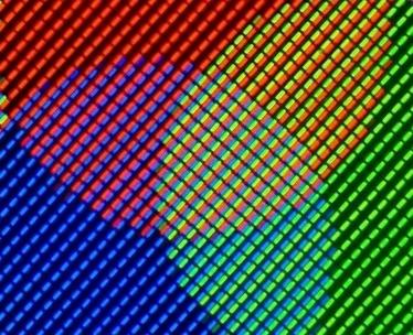 RGB/CMYK Primer kako pikseli na nekom displeju jedan do drugog prave boje koje mi percepiramo kao OSTALE.